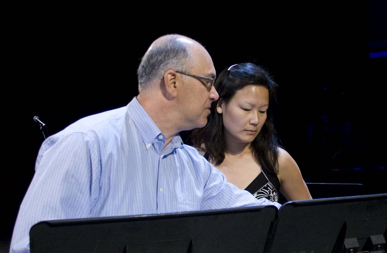 Composer David Felder Discussing His Piece Another Face With Violinist Lina Bahn  1