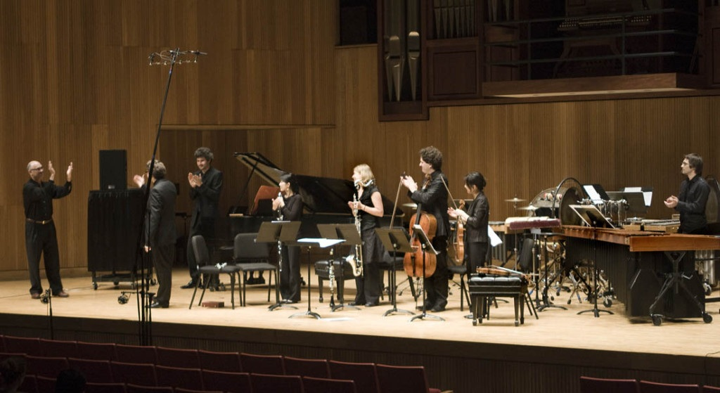 Composer David Felder With Ensemble Linea After The Performance Of His Work Partial Dist Res S Toration At June In Buffalo 2011  1