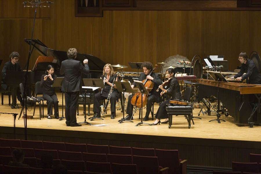 Composer David Felder With Ensemble Linea After The Performance Of His Work Partial Dist Res S Toration At June In Buffalo 2011  2