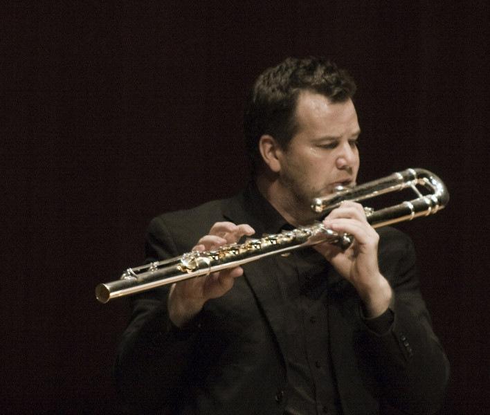 Composer David Felder With Flutist Barry Crawford After A Performance Of Felders Work November Sky At June In Buffalo 2012  2