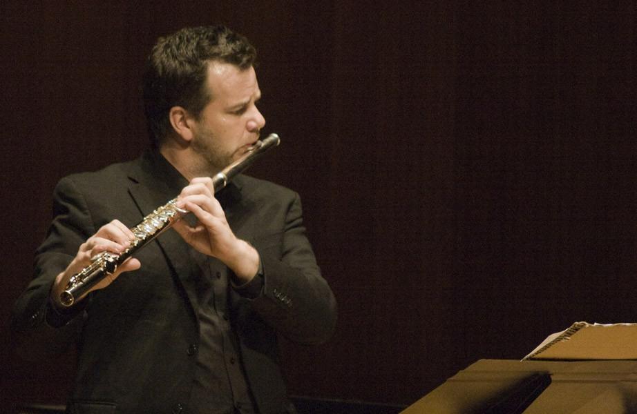 Composer David Felder With Flutist Barry Crawford After A Performance Of Felders Work November Sky At June In Buffalo 2012  3