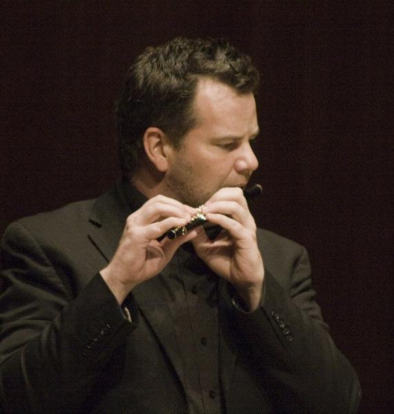 Composer David Felder With Flutist Barry Crawford After A Performance Of Felders Work November Sky At June In Buffalo 2012  4