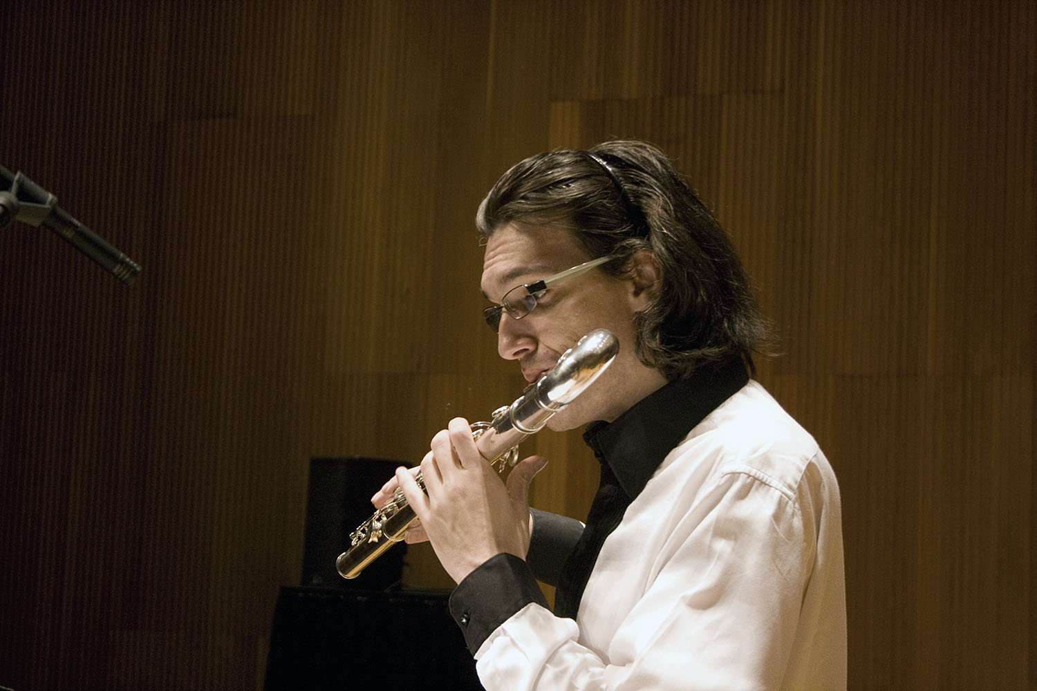 Mario Caroli Flutist With The Slee Sinfonietta Conducted By Brad Lubman In Performance Of David Felders Inner Sky  3