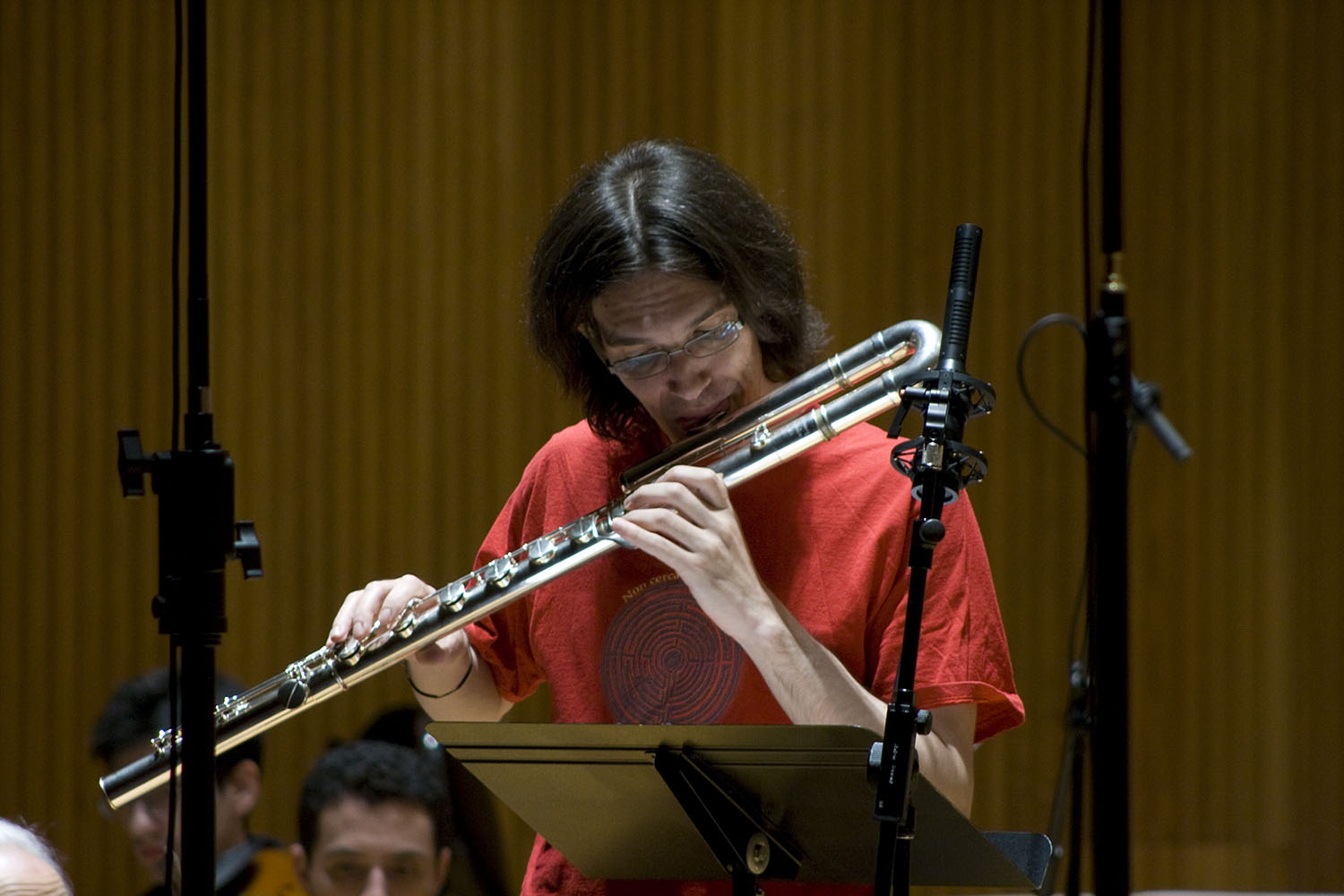 Mario Caroli Flutist With The Slee Sinfonietta Conducted By Brad Lubman In Performance Of David Felders Inner Sky  4